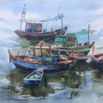 Рыбацкие лодки. Район г. Таиланд